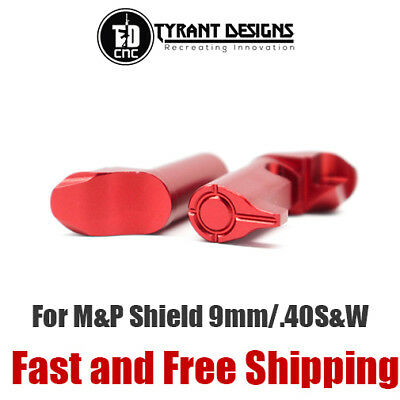 $27.95 • Buy Tyrant Aluminum CNC Extended Magazine Release For M&P Shield 9mm/40 S&W - Red