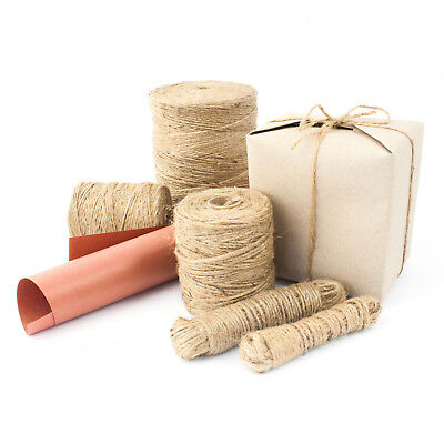 1m-1000m Natural Brown Soft Jute Twine Sisal String Rustic Shabby Cord • 2.07£