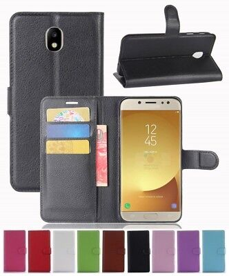 AU5.89 • Buy Wallet Leather Flip Case Pouch Cover For Samsung Galaxy J7 Pro Genuine AuSeller