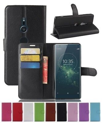 AU5.89 • Buy Wallet Leather Flip Card Case Pouch Cover For Sony Xperia XZ2 Genuine AuSeller