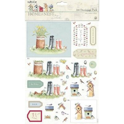 Papermania A4 Decoupage Pack - Home To Nest Lucy Cromwell • 2.75£