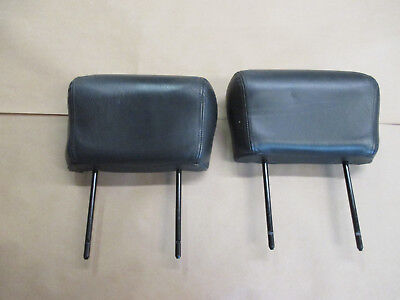 $75 • Buy 00-02 Trans Am Coupe Ebony Leather Front Seat Headrest Head Rest Pair 0331-1