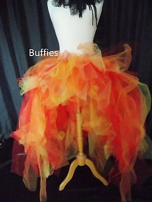 Long BIG Tutu Bird Of Paradise Swan Gothic Steampunk Burlesque Bustle Size 8-24 • 25£