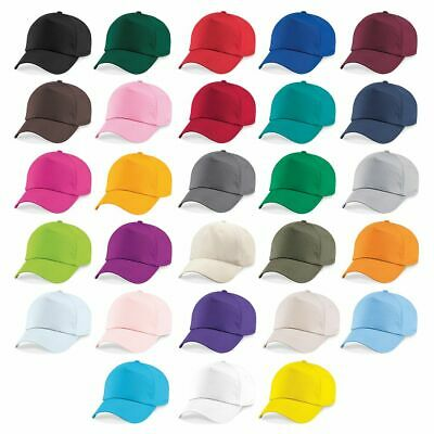 Beechfield Original Vintage 5 Panel Curved Peak Baseball Sports Cap | 28 COLOURS • 3.55£
