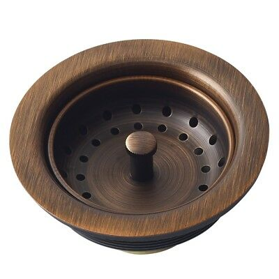 $47.57 • Buy Antique Finished Beautifully Kitchen Sink Basket Strainer Drain 3.5  Copper