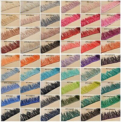 £8.99 • Buy 51 Colors Goose Biot Feather Trim Fringe For Millinery Fascinator Hat Craft Gown