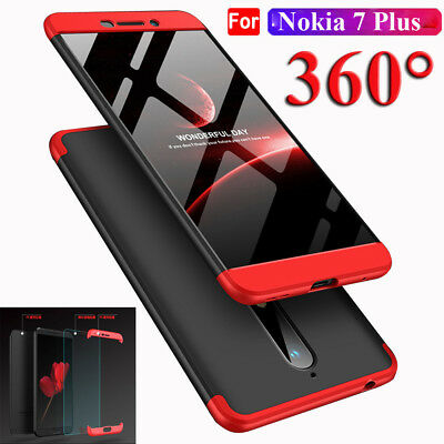 AU4.90 • Buy 360° Full Cover Acrylic PC Back Case+Tempered Glass Film For Nokia 6 2018/7 Plus