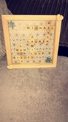 Personalised Scrabble Picture Frame/ Family Tree Frame/ Button Family Frame • 18£