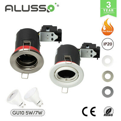 Fire Rated LED GU10 Recessed Ceiling Spot Lights Downlights Fixed Or Tilt • 4.99£