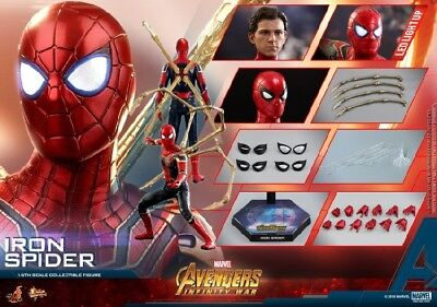 AU541.11 • Buy Hot Toys MMS482 1/6th The Avengers 3 Iron Man Spider Man Figure Collectible