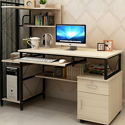 AU239 • Buy Multi-Function Office Computer Desk Table Deluxe Large Combination Workstation