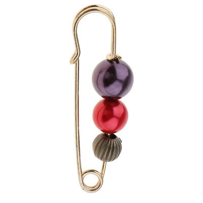 £2.27 • Buy Fancy Pearls Stick Pin Scarf Safety Pin Brooch Sweater Elegant Lady Jewelry