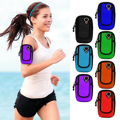 Sports Gym Armband Case Cover Running Jogging Zipper Pouch Holder Bag For Phones • 10.60£