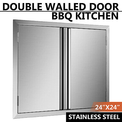 $70.36 • Buy 24  Outdoor Kitchen Bbq Island Stainless Steel Double Access Bbq Door Usa Made