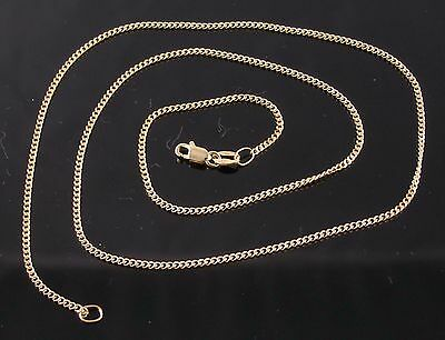 AU180 • Buy Brand New Solid 9ct Yellow Gold 40cm Diamond Cut Curb Chain Necklace