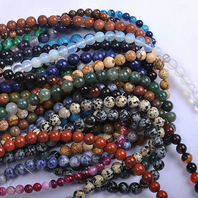 $ CDN1.49 • Buy Wholesale Natural Gemstone Round Spacer Loose Beads 4MM 6MM 8MM 10MM 12MM