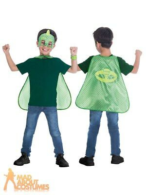 PJ Masks Gekko Child Cape Set Official UK Superhero Fancy Dress Accessory Kids • 5.99£
