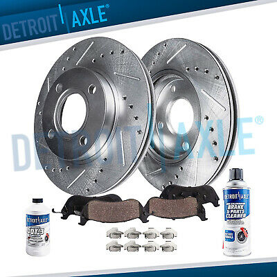 $84.20 • Buy Front 2003 - 2008 Saturn Ion G5 DRILLED SLOTTED Rotors & Ceramic Brake Pads