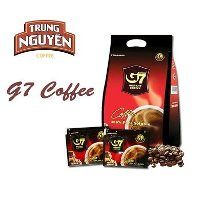 AU23.90 • Buy G7 Trung Nguyen Black Coffee 100pcs(200g) Vietnam Coffee Pure Soluble Best Price