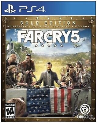 AU169.62 • Buy Far Cry 5 Gold Edition Steelbook (Sony PS4, 2018) New Sealed Mint Condition