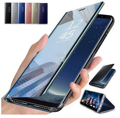 $ CDN6.24 • Buy For Samsung S21 Ultra S20 FE A52 A42 A72 A12 Smart View Mirror Leather Flip Case