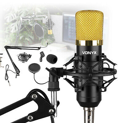 Desktop Condensor Microphone With Desk Stand Boom Arm Podcast Recording • 44.99£