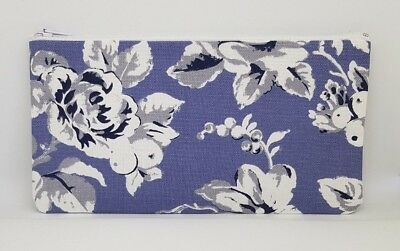Cath Kidston Etched Floral Fabric Handmade Pencil Case Make Up Bag Storage Pouch • 5.95£