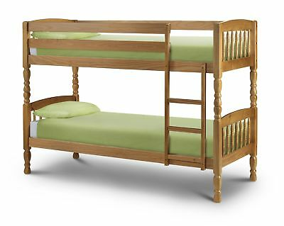 £294.95 • Buy Julian Bowen Lincoln Wooden Bunk Beds 2ft6 Small Single 3ft Single - Solid Pine