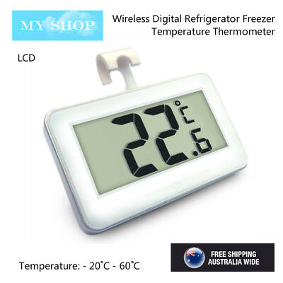 AU9.65 • Buy Digital Fridge / Freezer Thermometer -- Waterproof, LCD, Wireless & Hanging Hook