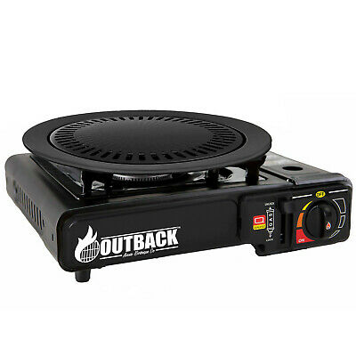 AU109 • Buy Portable Gas BBQ Stove With PRO Grill Plate Outdoor Barbecue Cooking Burner Kit.