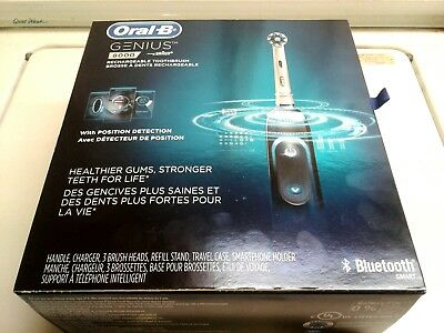 AU154.55 • Buy Drop!  Oral B:  Rechargeable, Tooth Brush, Model Genius 8000, Bluetooth!  -:)...