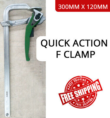 AU54.90 • Buy Welding Clamp 300mm X 120mm F Clamp Quick Action Industrial High Quality Forged