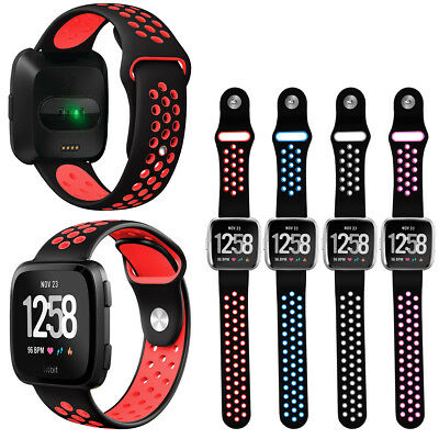 $ CDN12.21 • Buy For Fitbit Versa/Lite/Special Edition Silicone Rubber Sport Replacement  Strap