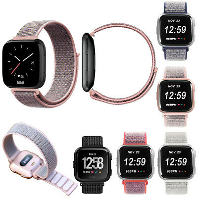 $ CDN13.66 • Buy For Fitbit Versa/Lite/Special Edition Adjustable Loop Soft Nylon Weave WristBand