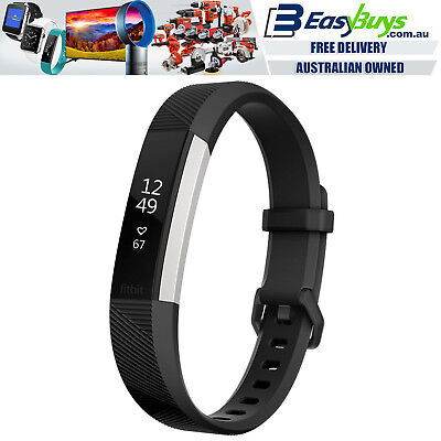 $ CDN143.51 • Buy Fitbit Alta HR Heart Rate Fitness Watch Wristband Black And Stainless Steel
