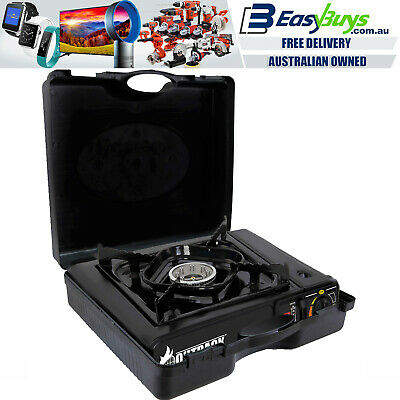 AU34 • Buy Portable Gas BBQ Stove & Carry Case Outdoor Barbecue Cooking Butane Burner Kit