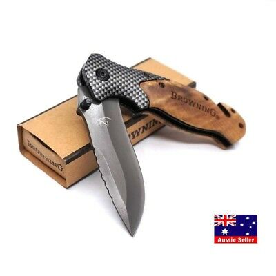 AU17.95 • Buy Browning X50 Knife Folding Tactical Survival Hunting Camping Knives- AUS STOCKS