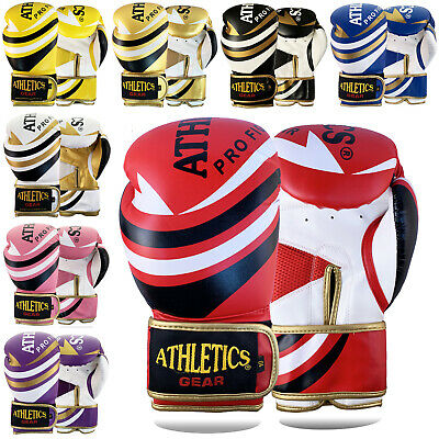 Boxing Gloves Punch Bag Rex Leather Pro Kick Fight Gym Punching Training Mitts • 11.99£