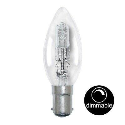 AU32.90 • Buy LUSION Halogen Candle Light Bulb SBC B15 240V 18W(25W) Clear Dimmable 30112
