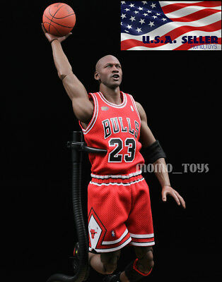 $25 • Buy Custom 1/6 Michael Jordan Red Chicago Bulls Jersey 23 For Enterbay Body USA
