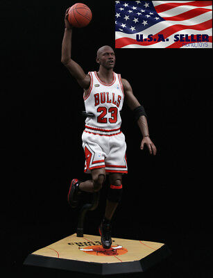 $23.99 • Buy 1/6 Scale Michael Jordan White Chicago Bulls Jersey 23 For Enterbay Body ❶USA❶