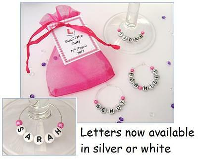 Hen Party/Hen Night Favours - Name Wine Glass Charm  • 1.25£