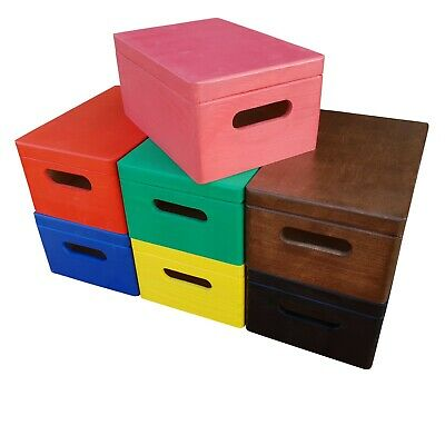 Wooden Box/trunk In Four Types Of Finishing And Seven Colors • 12.99£