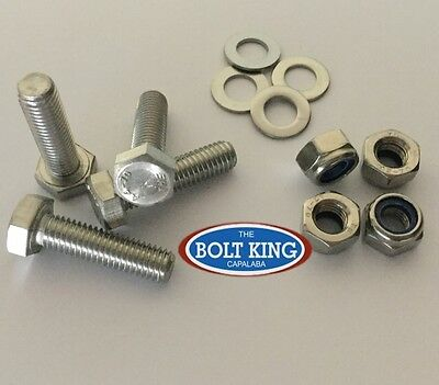 AU14.30 • Buy 304 Stainless Steel Hex Set Screw M8 Kit Bolts/nuts/washers