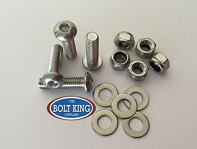 AU13.20 • Buy M6 Button Head Socket Screw Kit 304 Stainless Steel Bolt/nut/washer