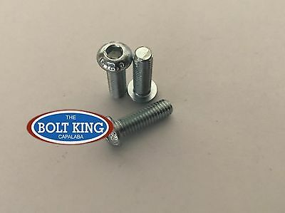 AU13.20 • Buy M6 Button Head Socket Screw  Zinc Plated Grade 12.9 High Tensile