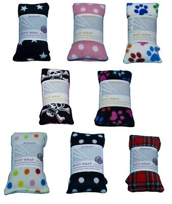 £7.20 • Buy Printed Wheat Heat Packs Body Wraps Lavender Unscented Microwave Heat Bag Relief