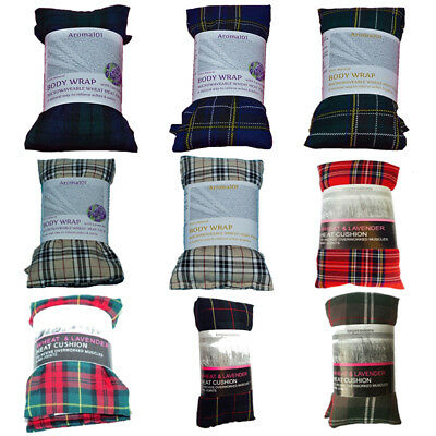 New TARTAN Wheat Heat Bag Cool Pack Pure Microwaveable Freezable Lavender Hot • 5.55£