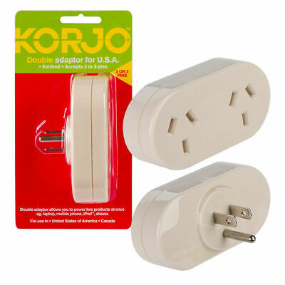 AU41.59 • Buy New Travel Adapter Adaptor Power Socket To Plug Australia AU NZ To US USA Canada