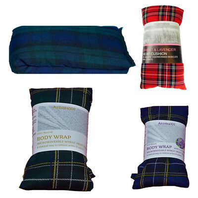 3X Tartan Wheat Heat Bag Pack Body Wrap Lavender Unscented Microwave Relief • 12.40£